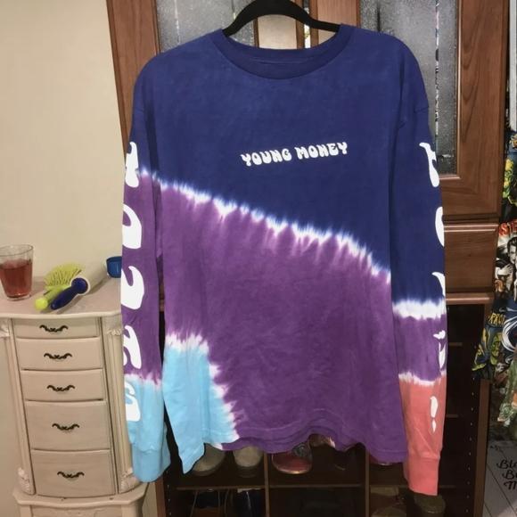 NWOT AE Young money tye dye long sleeve top Large